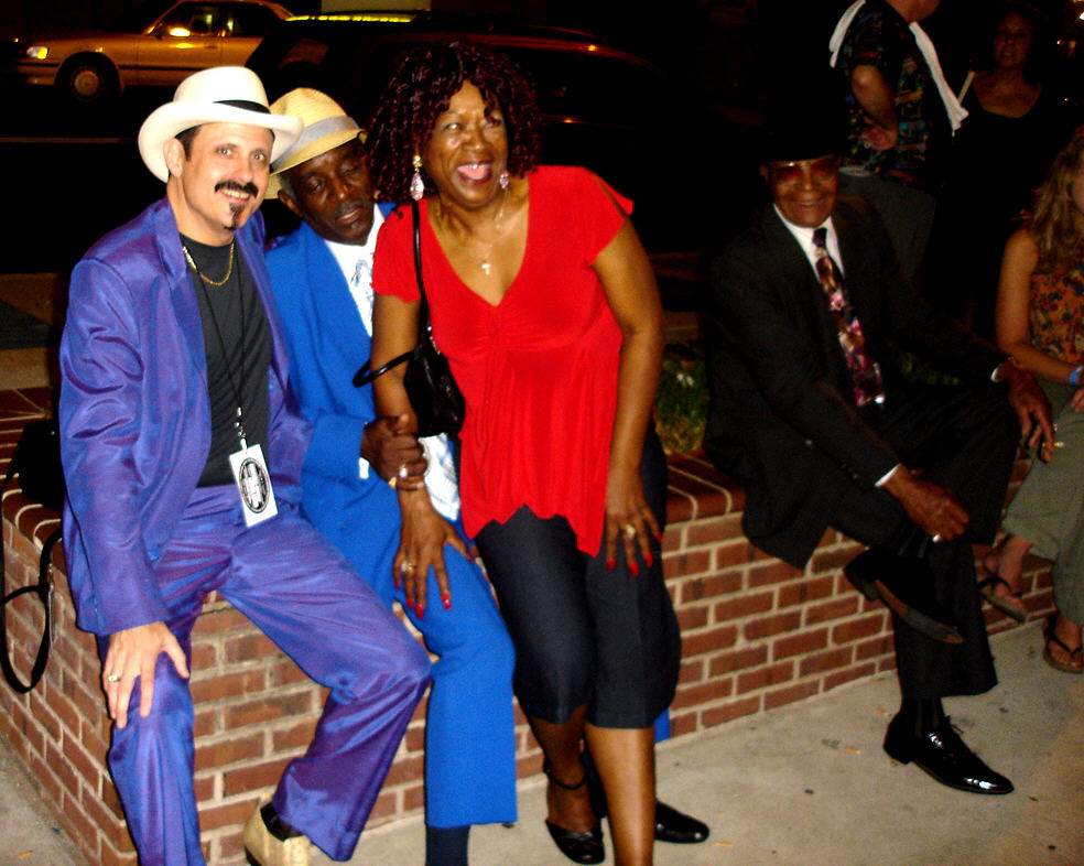 Steve Edmonson, Leon Blue, Trudy Lynn and Phillip Walker in Memphis   ©Judy Edmonson